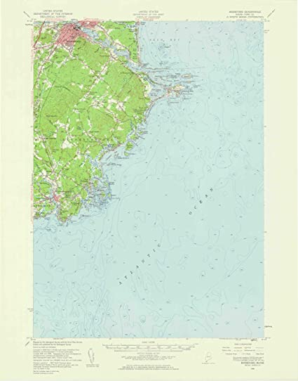 Amazon Com Yellowmaps Biddeford Me Topo Map 1 62500 Scale 15 X 15 Minute Historical 1956 Updated 1960 21 X 16 5 In Paper Sports Outdoors