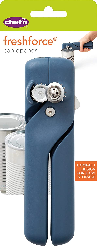 Chef'n FreshForce Compact Can Opener, Stainless Steel, Blue