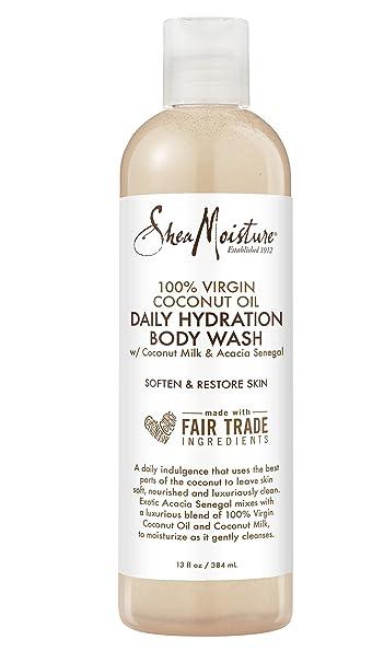 Shea Moisture 100% Virgin Coconut Oil Daily Hydration Body Wash 13 oz