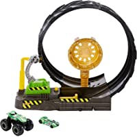 Hot Wheels GKY00 Monster Trucks Epic Loop Challenge Play Set Includes Monster Truck and 1:64 Scale Car