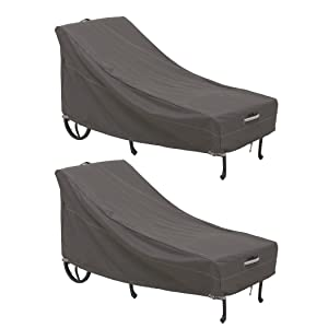 Classic Accessories Ravenna Patio Chaise Lounge Cover, Large (2-Pack)