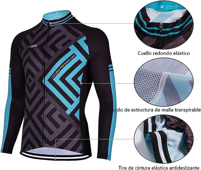 Feilaxleer Ropa Ciclismo Otoño/Invierno/Primavera para Hombre y ...