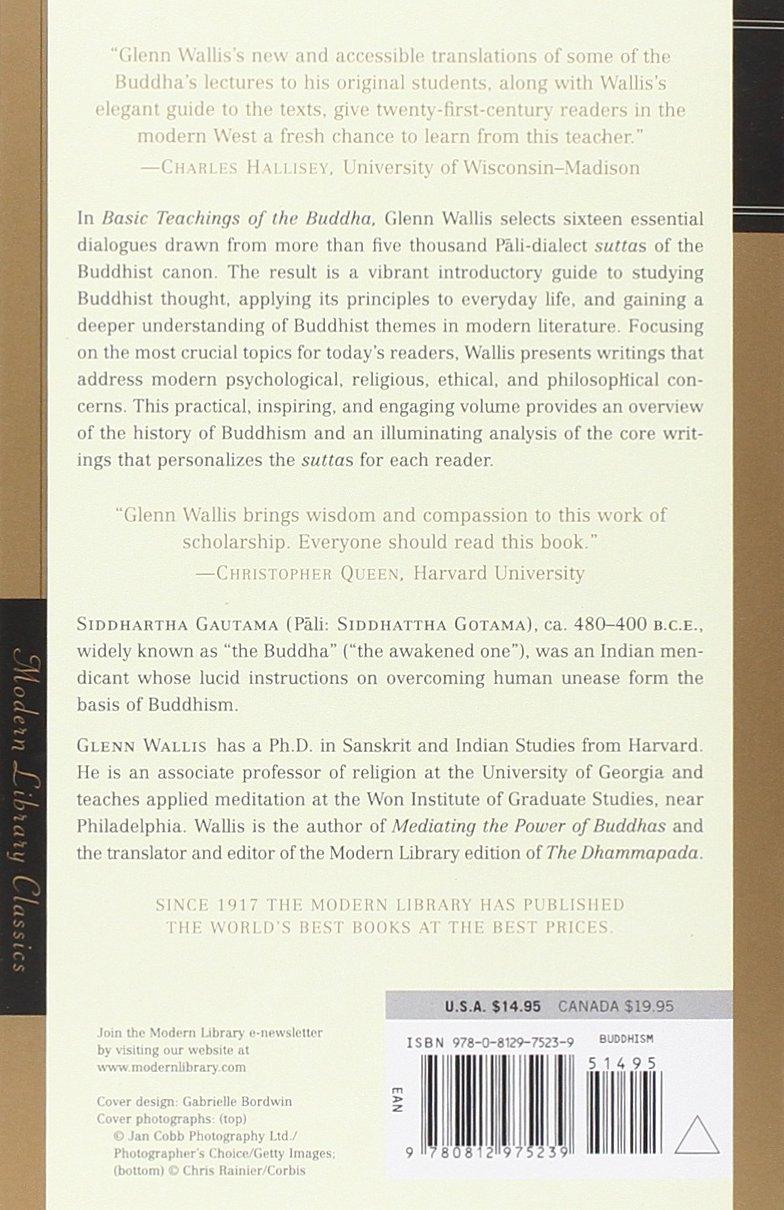 Basic Teachings Of The Buddha (modern Library Classics): Glenn Wallis,  Buddha: 9780812975239: Amazon: Books