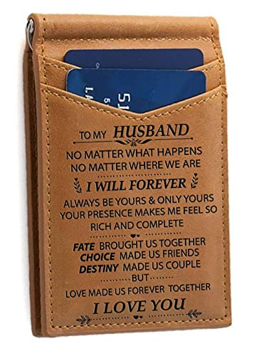 Memory Wife to Husband - Tarjetero, diseño con Texto en ...