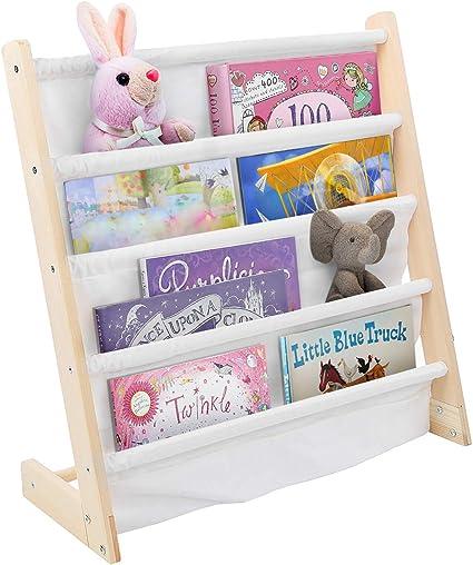 Cocoarm Estantería para niños de pie, Estantería de Madera para Lectura para bebés, Estantería para Libros para niños Estante para revistas, Estante ...