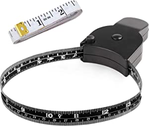 Body Measuring Tape 60 inch, Body Tape Measure, Lock Pin and Push Button Retract, Body Measurement Tape, Black