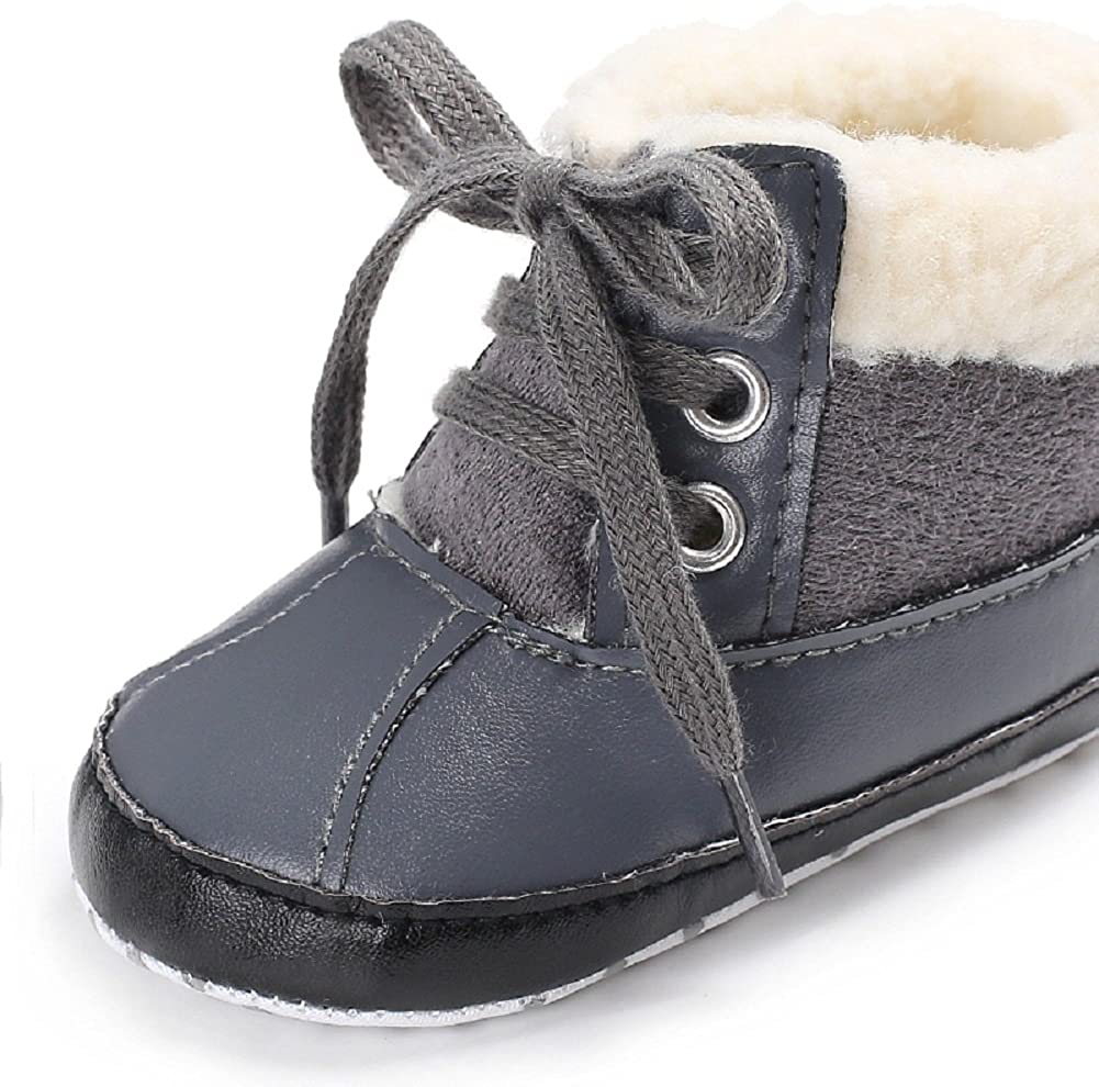Pandaie Baby Boy /& Girl Shoes Newborn Baby Toddler Boys Warm Ankle Snow Boots Crib Shoes Anti-Slip Sneakers