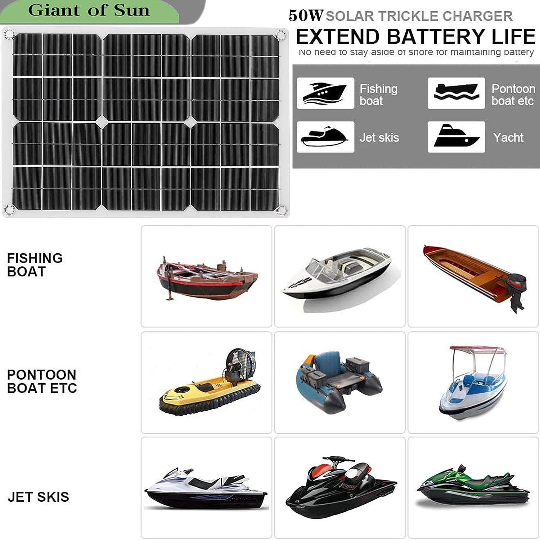 Yctze 50W faltbares Solarpanel Monokristalline Zelle Dual-USB ...