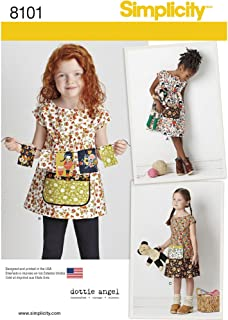 product image for Simplicity 8101 Child's Tunic and Dress Sewing Pattern, Sizes 3-8