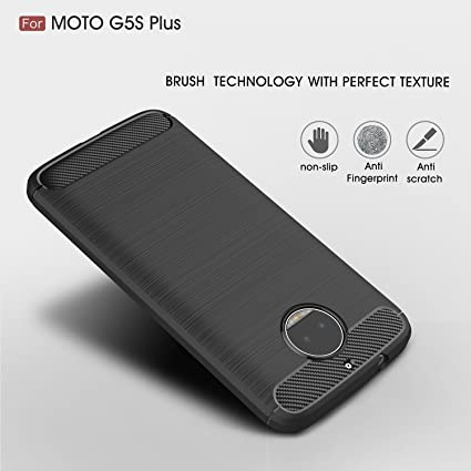 release date 0ee36 d9dd2 Chevron Shock Proof TPU Case for Moto G5S Plus Mobile (Red Wine)