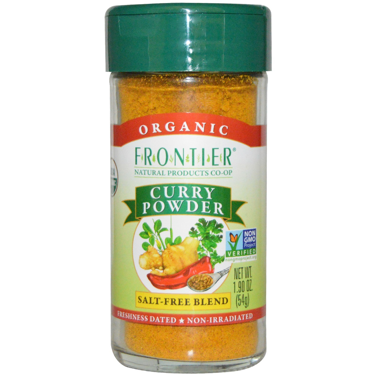 Frontier Natural Products, Organic Curry Powder, Salt-Free Blend, 1.90 oz (54 g) - 2pc