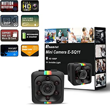 Amazon.com: ehomful Cámara Espía Oculta Mini 1080P 30FPS ...