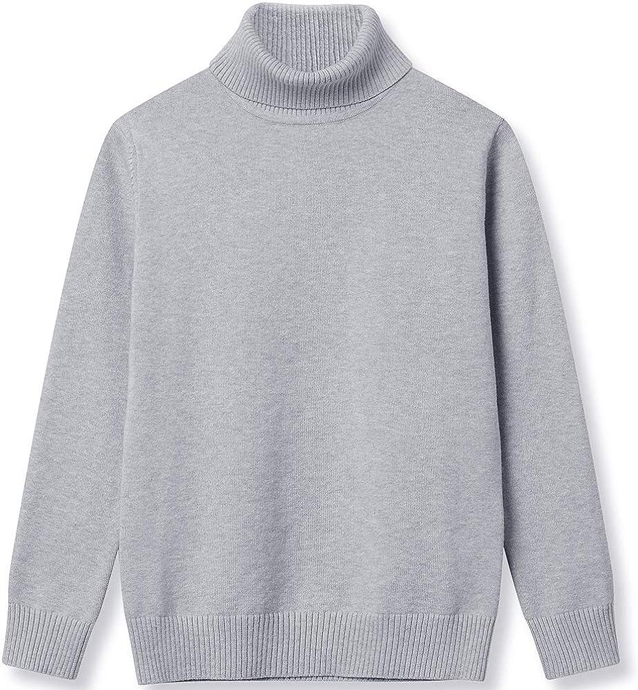 BASADINA Boys Girls Sweatshirts Christmas Turtleneck Jumpers Long Sleeve Tops Cotton Knitwear Sweater Kids Winter Warm Clothes
