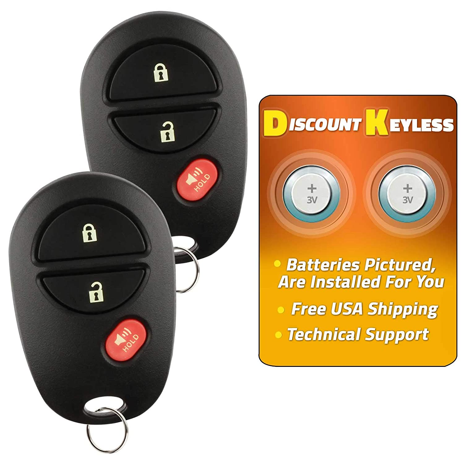 Discount Keyless Replacement Key Fob Car Remote For Toyota Tacoma Tundra  Sequoia Highlander GQ43VT20T