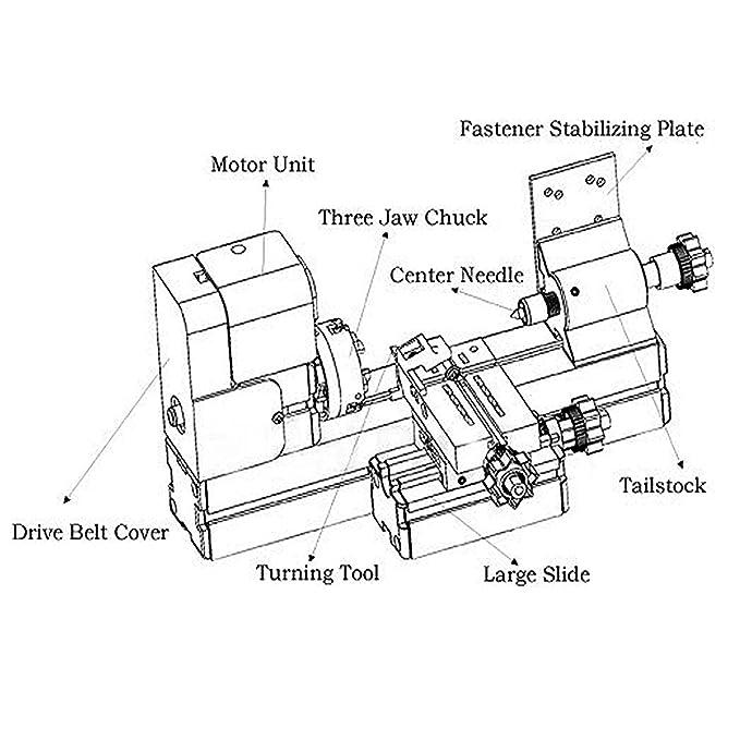 Ridgeyard 24W Metall Drehmaschine Holzverarbeitung Metallbearbeitung  Teaching DIY Werkzeug: Amazon.de: Baumarkt