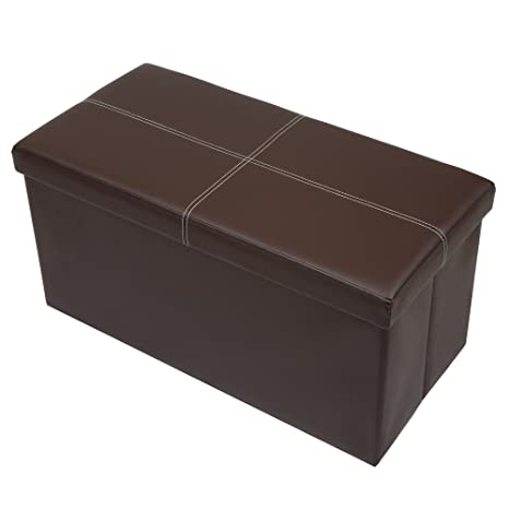 Otto U0026 Ben 30 Inch Line Design Memory Foam Seat Folding Storage Ottoman  Bench With Faux