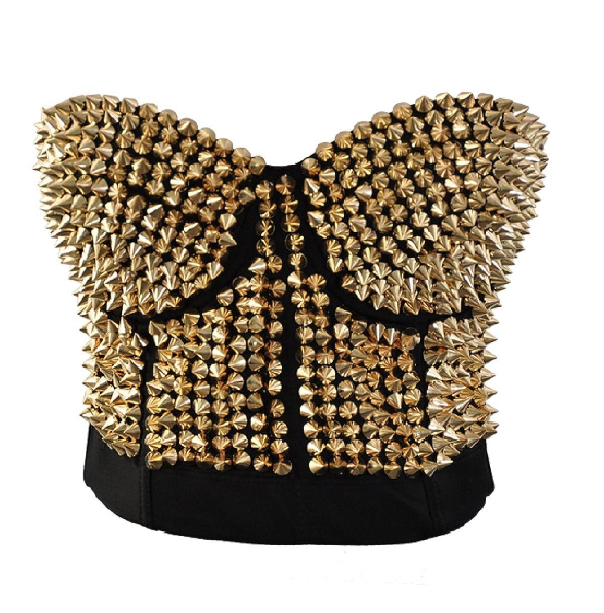 Bslingerie® Women Sequined Bustier Clubwear Bra Top