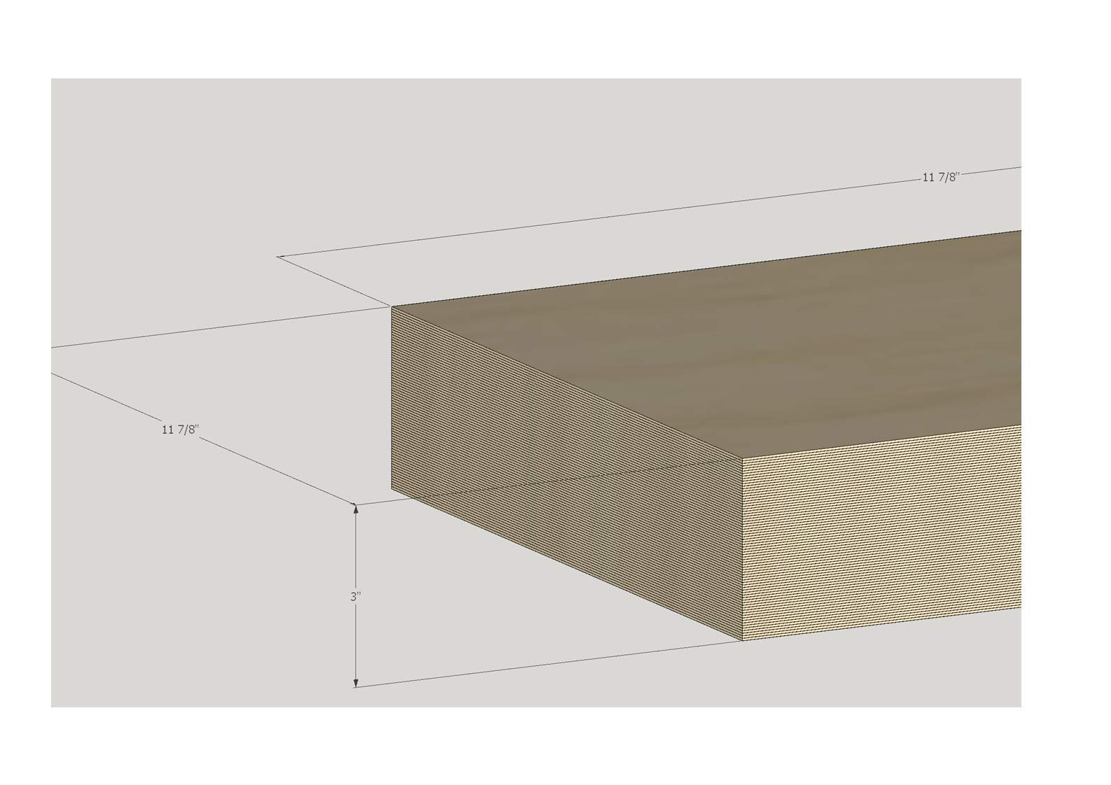 3MM 1/8'' x 12'' x 24'' Baltic Birch Plywood Box of 24 B/BB Grade Birch Veneer Sheets one Clear face by The Kitchen Zone