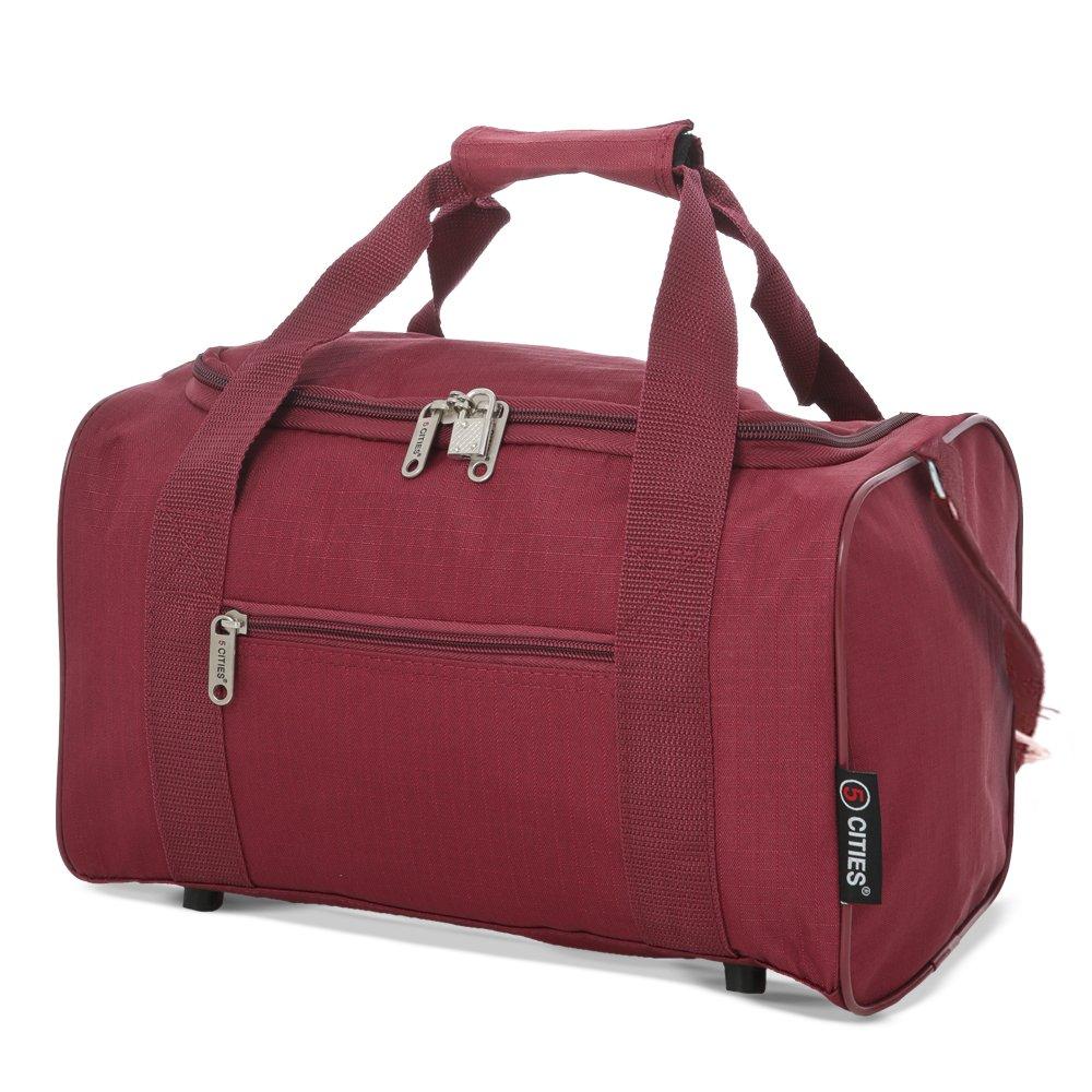5 Cities 35x20x20 Maximum Ryanair Cabin Hand Luggage Holdall Flight Bag (Navy)