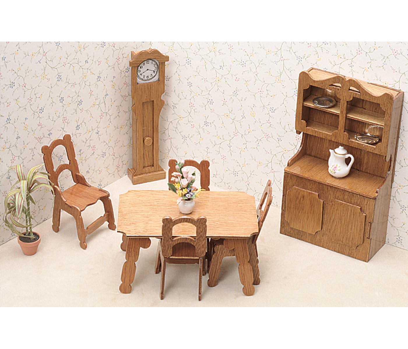 Amazon Greenleaf Dollhouse Furniture Kit Dining Room Arts Crafts Sewing