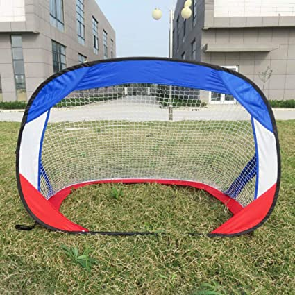 Set of 2 NET PLAYZ 4ftx3ft Easy Fold-Up Portable Training Soccer Goal