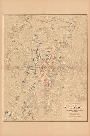 Battle Chickamauga Sept Morning Civil War Gift Ideas Antique - Chickamauga on us map