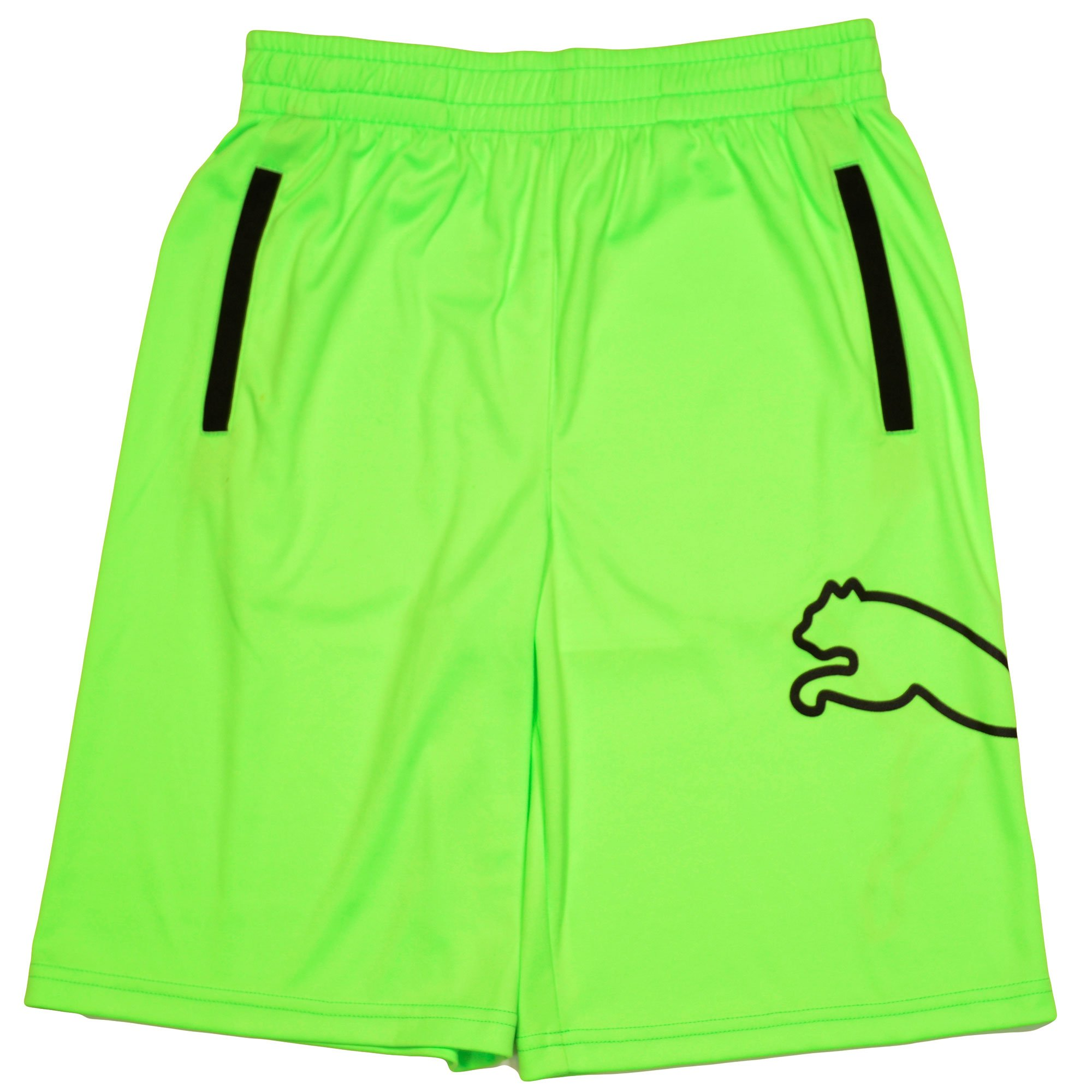 PUMA Big-Kid Loose Fit Breathable Dry Fit Moisture Wicking Shorts Green Medium by PUMA