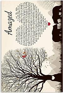 Jackila #Lonestar Amazed Lyrics Lyrics Song Poster Wall Art Print Painting Home Decor Gifts for Lovers Poster