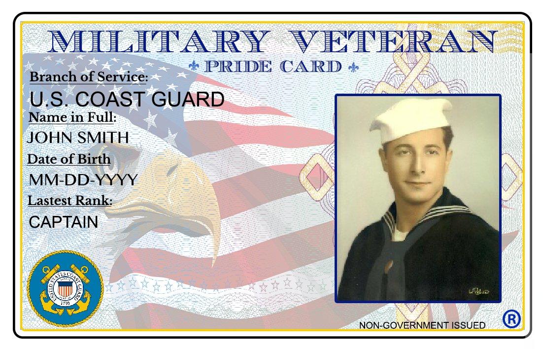 Oficina Y com Coast Pride custom Militar Identificación mx De Tarjeta Guard Veterano Amazon Papelerãa