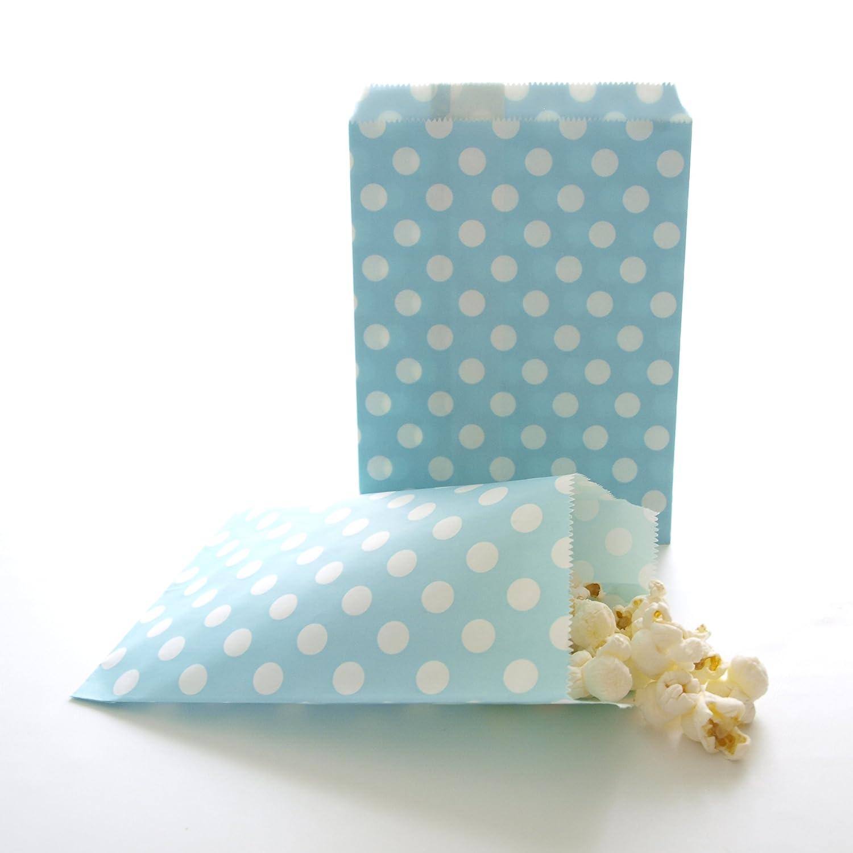 Amazon.com: Polka Dot Goodie Bags, Blue Candy Bags, Wedding Favor ...
