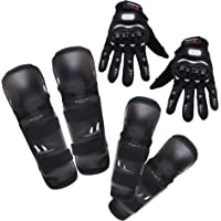 Kurtzy Knee Elbow Guard Gear for Skating Cycling Adults Bike Motocross Racing Motorcycle Sports with Hand Gloves