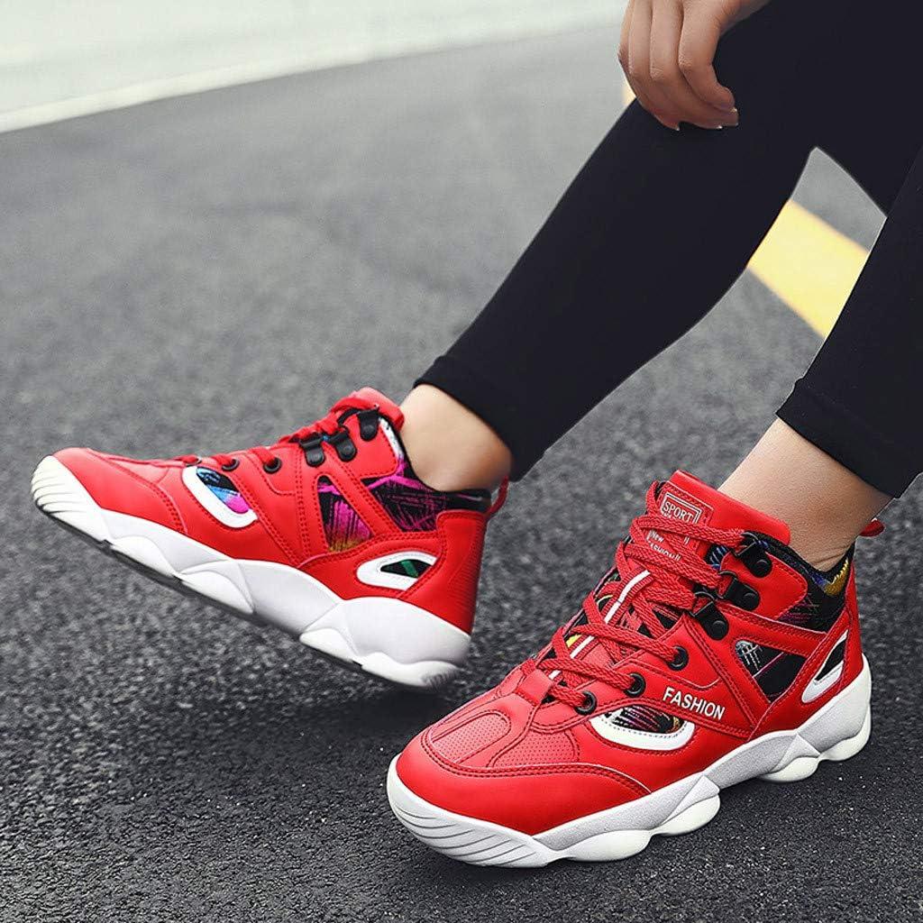 Bohelly Hot Fashion - Zapatillas de Running para Parejas, Colores Variados, Resistentes al Desgaste, Rojo (Rojo), 38.5 EU: Amazon.es: Zapatos y complementos