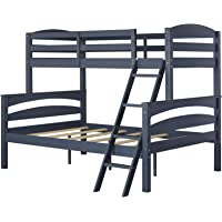 Dorel Living Brady Twin over Full Solid Wood Kids Bunk Bed (Graphite)