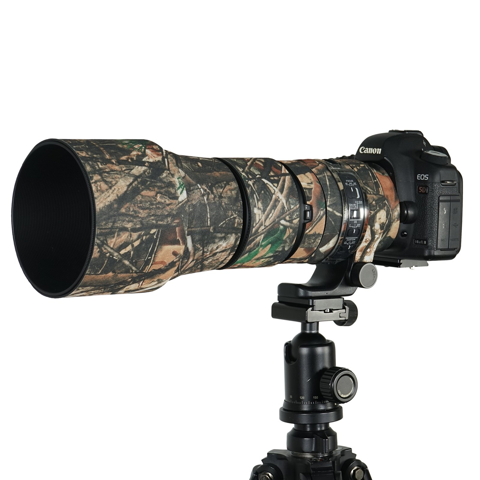 Mekingstudio Camera Lens Cover Protective for Sigma 150-600mm C - Forest Green Camo by Mekingstudio
