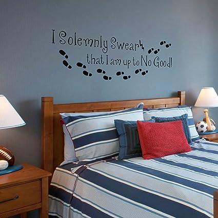 I am fino al n. Good Harry Potter-Adesivo da parete per camera da ...