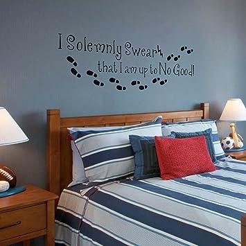 Ich bin nichts Gutes Harry Potter Wandtattoo Schlafzimmer Englisch ...