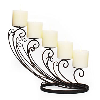 7. Pillar Candle Holder, Set of 5 pillar