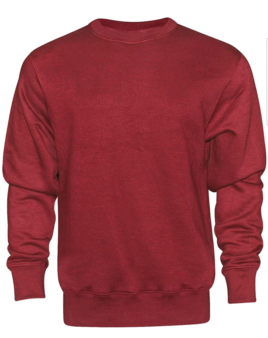 16Sixty New Mens Plain Crew Neck Sweater Sweatshirt Jumper Top S M XL Plus Sizes