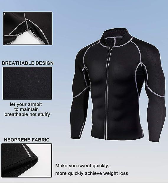 Men Exercise Sweat Hot Dress Shirt Sauna Suit Neoprene Slimming Fitness Jacket