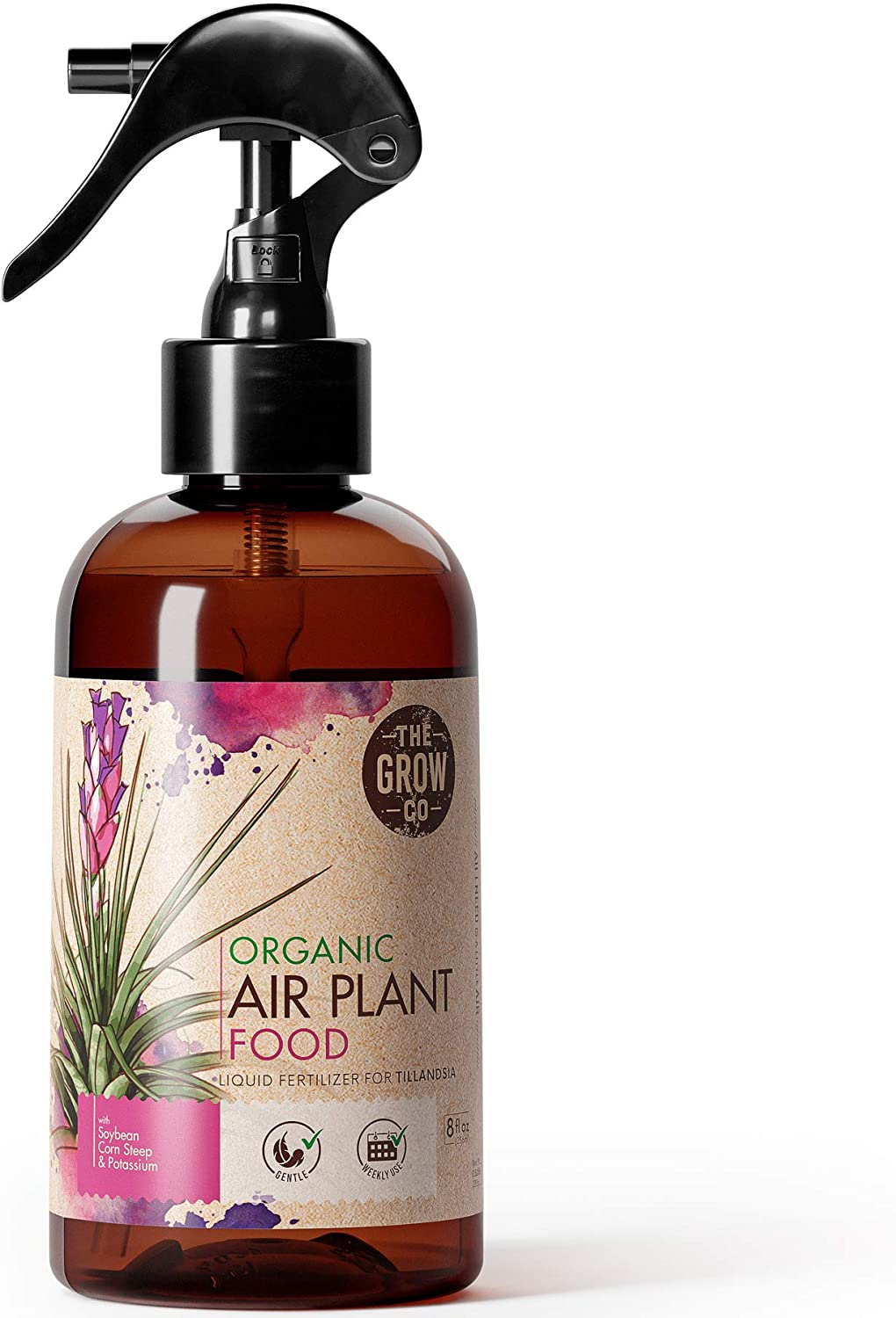 Organic Ready to Spray Air Plant Food - Fertilizer Mist for Weekly Use - Best for Live Tillandisa, Bromeliads, and Other Common Air Plants (8 oz)