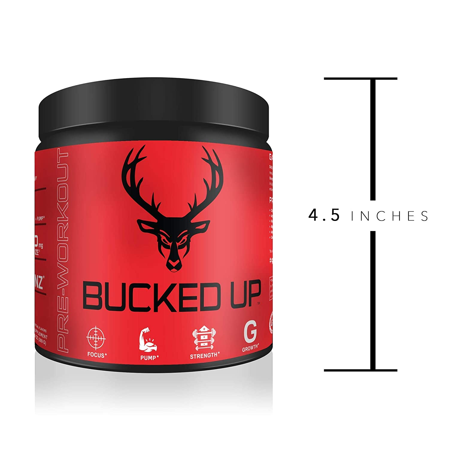 Bucked Up Pre Workout 6 Grams Citrulline, 2 Grams Beta Alanine, and 3 other  registered trademarked