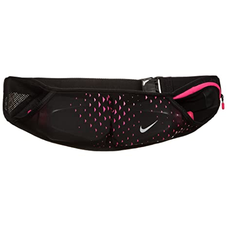 new arrivals 338fa 0a22e Nike Double Flask Pocket Running Belt (Black Hyper Pink)