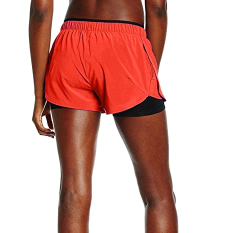 924cc60a0 Amazon.com   Nike Womens Phantom 2 in 1 Dri-Fit Compression Training Shorts  (Large