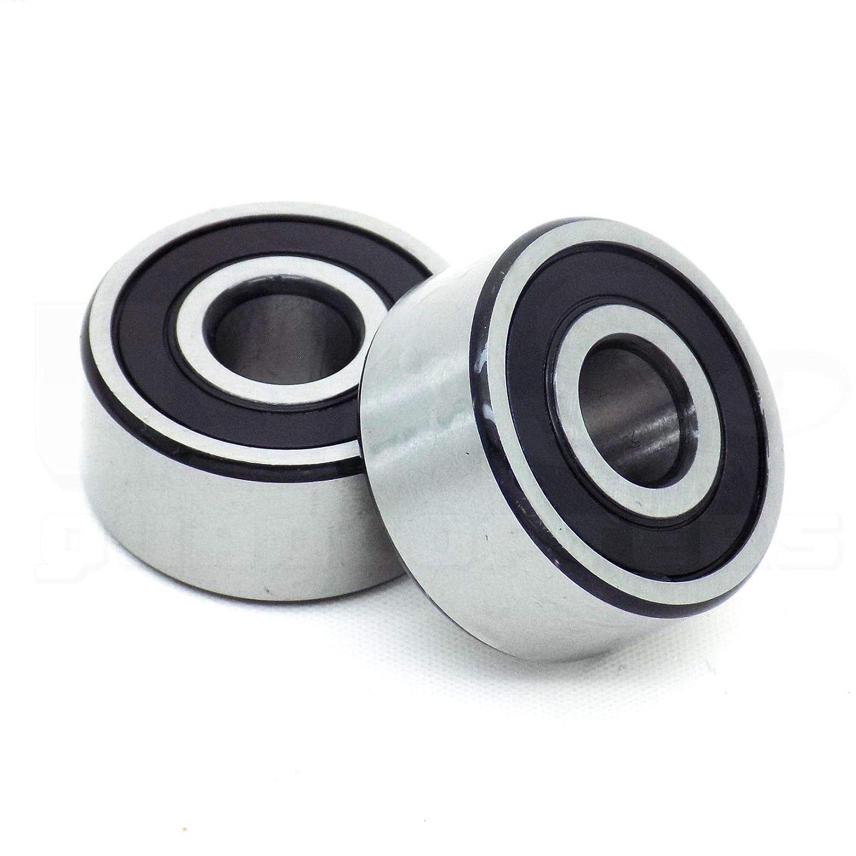 Lheng 5202 2RS Double Row Sealed Angular Contact Ball Bearings 3Pcs