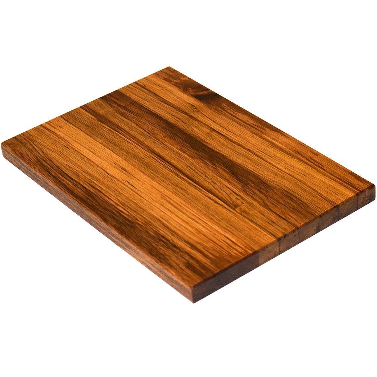 Teak Wood Edge Grain Cutting Board Handmade Reversible Butcher Block by The Practical Plankist (Image #4)