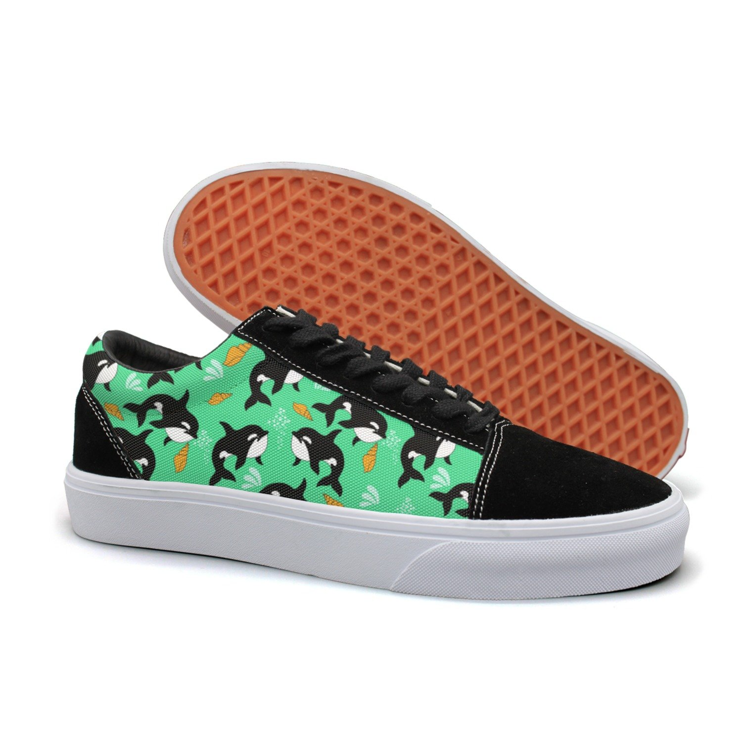 YCFTA Whale Party Supplies Men Casual Sneakers Shoes Flat Classic New Original