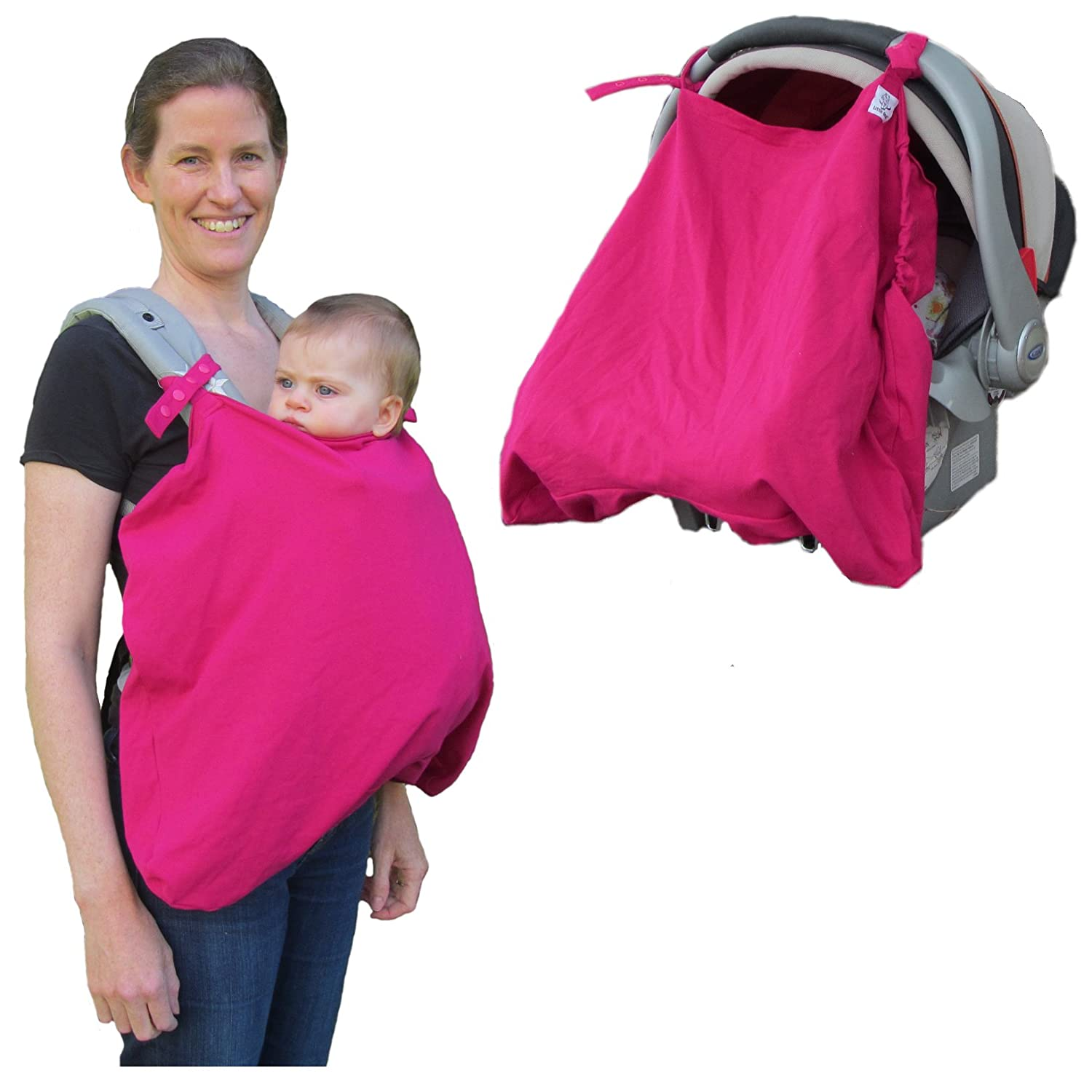 Little Goat Sun Cover UPF 50 for Car Seats, Baby Carriers & Strollers (Pink) Little Goat Carrier Covers