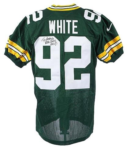 free shipping 2a02d bcc1d Reggie White Autographed Jersey - Nike Game Model COA - JSA ...