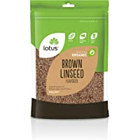 Lotus Brown Organic Linseed Flaxseed 500 g, 500 g