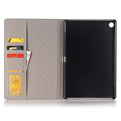 Grey MediaPad M5 10.8 inch Huawei Tablet Case TechCode Luxury Book Style Folio PU Leather Magnetic Smart Screen Protective Stand Case Flip Cover with Card Slots for Huawei MediaPad M5 10.8''